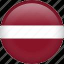 latvia, circle, country, flag, national