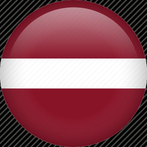 circle, country, flag, latvia, national icon