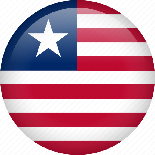 circle, country, flag, liberia, national icon