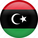 libya, circle, country, flag, national