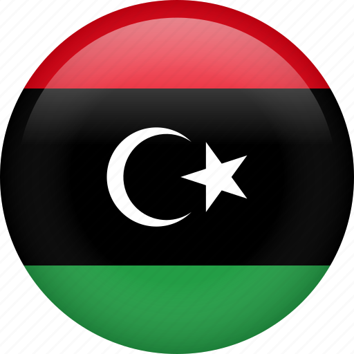 circle, country, flag, libya, national icon
