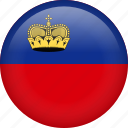 circle, country, flag, liechtenstein, nation, national icon
