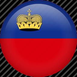 circle, country, flag, liechtenstein, nation, national icon
