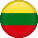 circle, country, flag, lithuania, nation, national icon