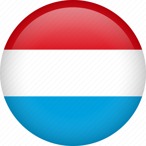 circle, country, flag, luxembourg, national icon