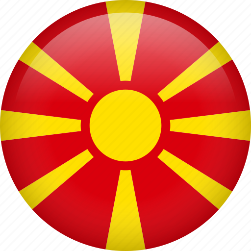circle, country, flag, macedonia, nation, national icon