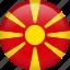 circle, country, flag, macedonia, nation, national icon