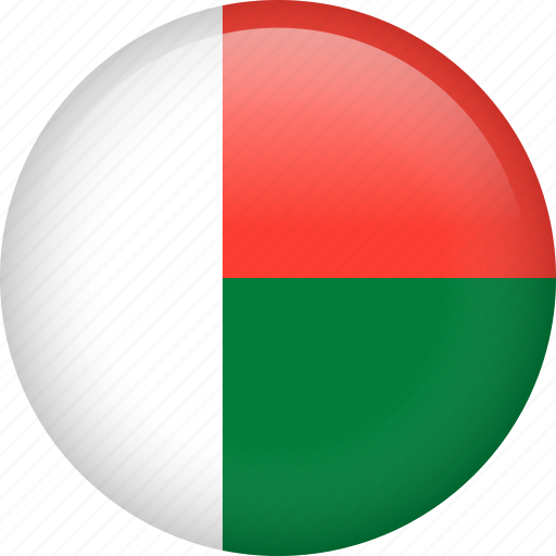 circle, country, flag, madagascar, national icon