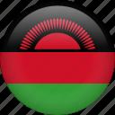 malawi, circle, country, flag, national