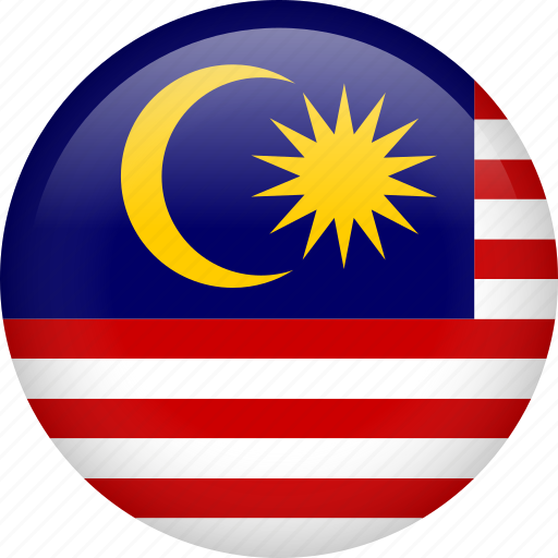 circle, country, flag, malaysia, national icon