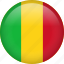 circle, country, flag, mali, nation, national icon
