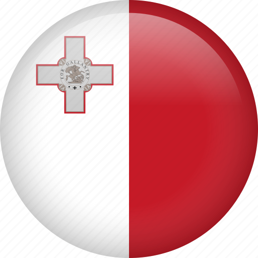 circle, country, flag, malta, nation, national icon
