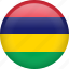 circle, country, flag, mauritius, national icon