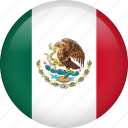 mexico, circle, country, flag, national