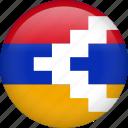 nagorno, circle, country, flag, national