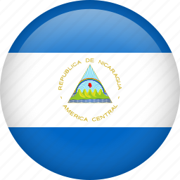 circle, country, flag, nation, national, nicaragua icon