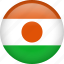 circle, country, flag, nation, national, niger icon