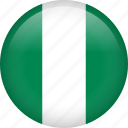 circle, country, flag, nigeria icon