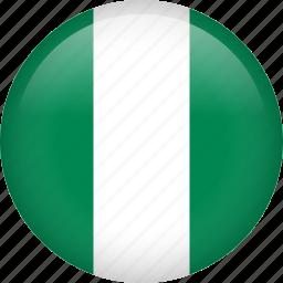 circle, country, flag, nigeria icon