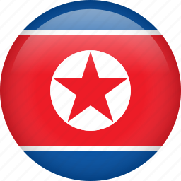 circle, country, flag, nation, national, north korea icon