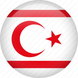 circle, country, flag, nation, national, northern cyprus icon