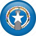 circle, country, flag, nation, national, northern mariana islands icon