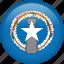 circle, country, flag, nation, national, northern mariana islands icon