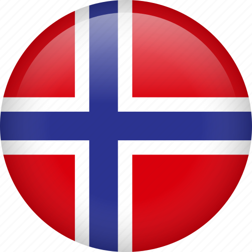 circle, country, flag, nation, national, norway icon