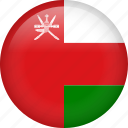 circle, country, flag, nation, national, oman icon