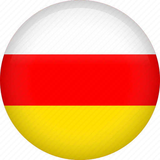 circle, country, flag, nation, national, ossetia icon