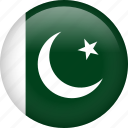 circle, country, flag, nation, national, pakistan icon
