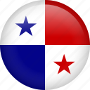 circle, country, flag, nation, national, panama icon