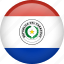 circle, country, flag, nation, national, paraguay icon