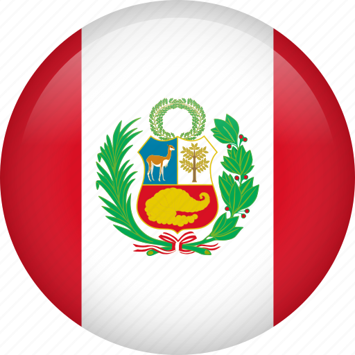 circle, country, flag, nation, national, peru, world icon