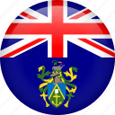 circle, country, flag, nation, national, pitcairn islands icon