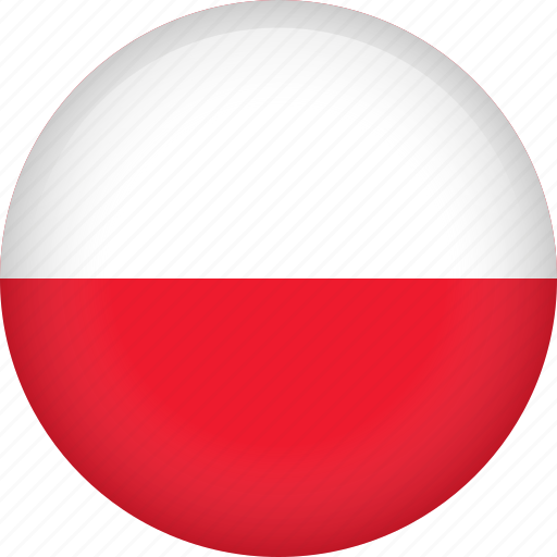circle, country, flag, nation, national, poland icon