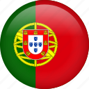 portugal, circle, country, flag, national, nation