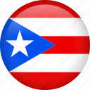 circle, country, flag, nation, national, puerto rico icon