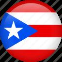 circle, country, flag, national, puerto rico, nation