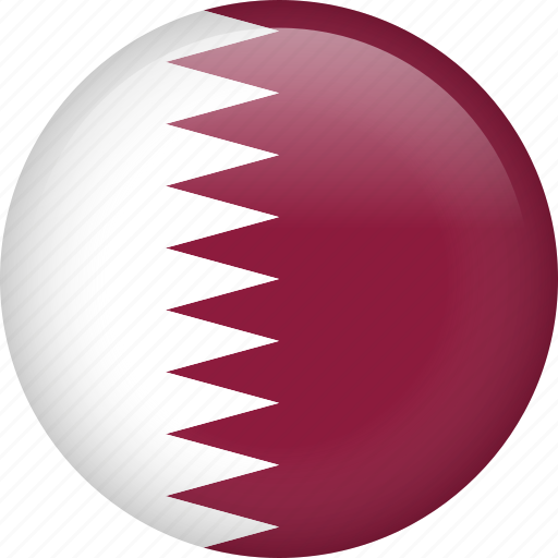 circle, country, flag, nation, national, qatar icon