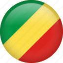 circle, congo, country, flag, nation, national icon