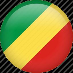 circle, congo, country, flag, nation, national icon