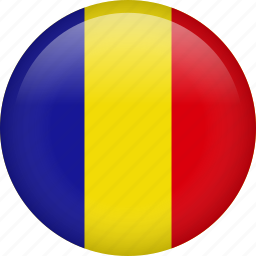 circle, country, flag, nation, national, romania icon