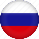 circle, country, flag, nation, national, russia, russian icon