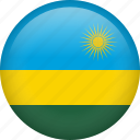 circle, country, flag, nation, national, rwanda icon