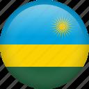 rwanda, circle, country, flag, national, nation