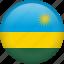 circle, country, flag, nation, national, rwanda icon