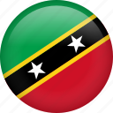 circle, country, flag, national, saint kitts and nevis, nation
