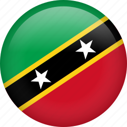 circle, country, flag, nation, national, saint kitts and nevis icon