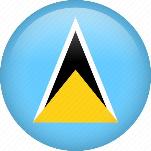 circle, country, flag, nation, national, saint lucia icon